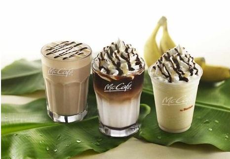 マックカフェ、チョコバナナスイーツが今年も登場