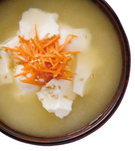 【毎日みそしる】おぼろ豆腐とにんじんと簡単おいおしいしらす丼で朝ごはん