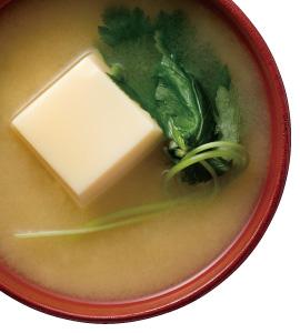 【毎日みそしる】卵豆腐と三つ葉のみそ汁と夏野菜を使ったごはんとおかずで朝ご飯