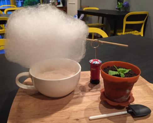 """【京都】新感覚ドリンク!話題の""""雲下ミルクティー""""と食べれる""""鉢植えデザート""""があるかわいいカフェ♡"""