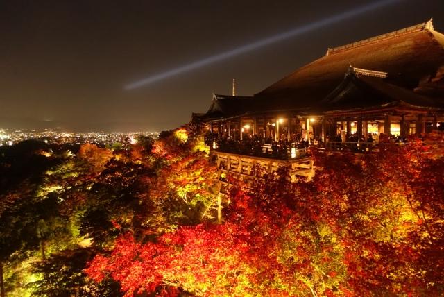 【2018京都紅葉ライトアップ】京都屈指の紅葉スポット!世界遺産の名刺「清水寺」