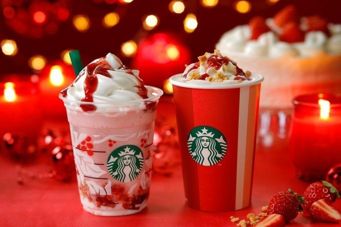 真っ赤で可愛い!スタバの新作、クリスマスシーズン限定「クリスマス ストロベリー ケーキ フラペチーノ」限定グッズも